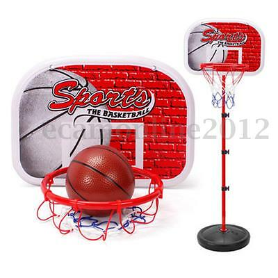 Adjustable Height Kids Sports Portable Basketball Ball Hoop Toy Kit With Stand