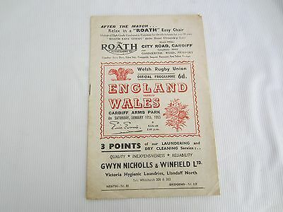 1953 INTERNATIONAL RUGBY UNION  WALES v ENGLAND @ CARDIFF ARMS PARK )
