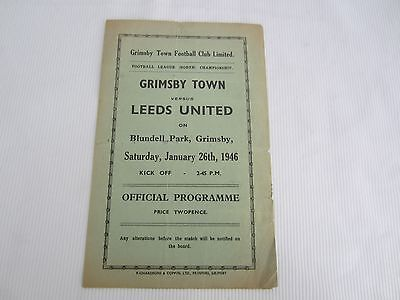 1945-46 LEAGUE NORTH GRIMSBY TOWN v LEEDS UNITED