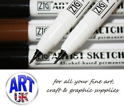 Zig ARTISTS SKETCHING PEN Alcohol-based Permanent Ink Black/Sepia Art & Craft