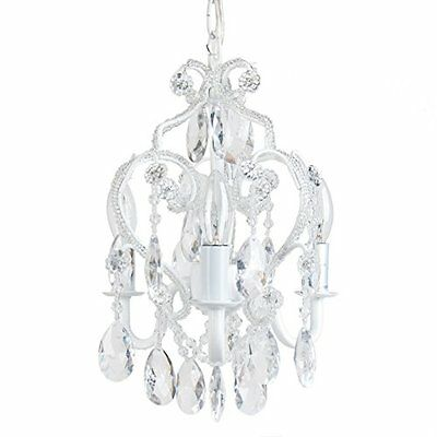 Tadpoles Three Bulb Chandelier, White Diamond