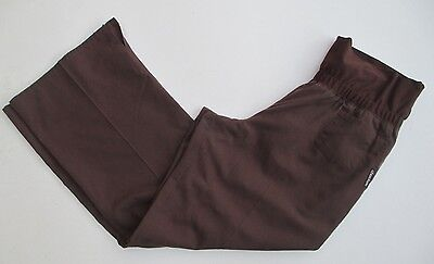 Women's Size Large Cherokee Solid Scrub Pants - Chocolate