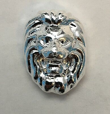 """1oz YPS """"Lion"""" 999+ fine silver bullion bar """"Yeager's Poured Silver"""""""