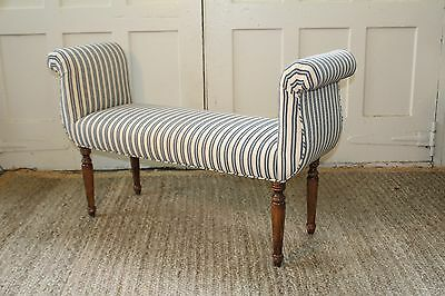 Vintage Federal Upholstered End of Bed/Window Bench