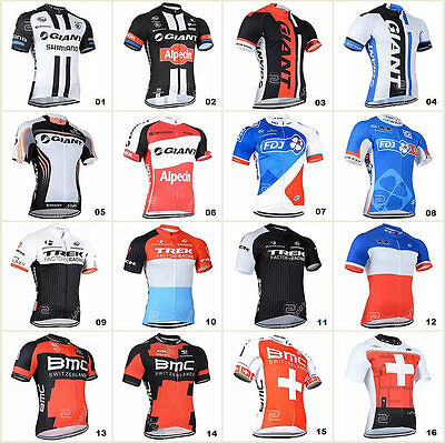 New Bicycle Team Mens Road Bike Clothing Jerseys Short Sleeve Tops Riding Shirt