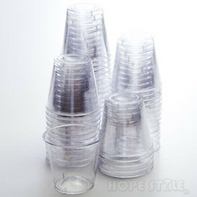 Quality Clear Hard Plastic Disposable 30ml Party Shot Glasses 1oz