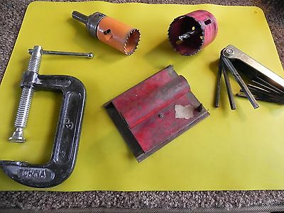 MACHINIST TOOLS PIECES PARTS  JUNK DRAWER estate find  DIFFERENT LOOK LOT