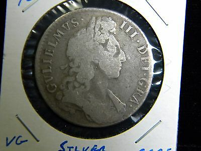 1697***great Britain***1/2 Crown***silver***very Good Condition***ccge