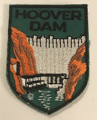 HOOVER DAM Vintage Patch ARIZONA NEVADA Lake Mead Souvenir Travel VOYAGER