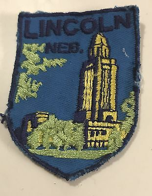 LINCOLN NEBRASKA Vintage Patch State Capital Souvenir Travel VOYAGER Embroidered