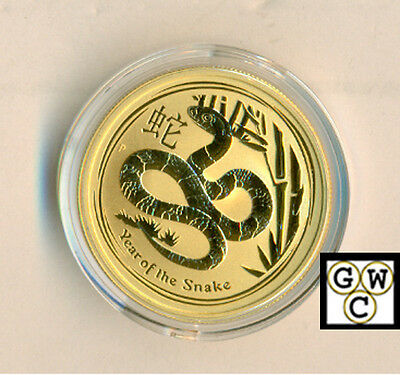 2013- 50 dollars Year of the Snake 1/2 oz .9999 Gold Australian Coin(OOAK)