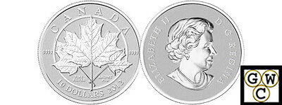 2012 'Maple Leaf Forever' $10 Silver Coin 1/2oz .9999 Fine (NT)(OOAK)(12987)