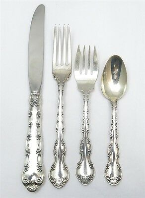 Estate Sterling Silver Strasbourg by Gorham 4 piece place setting