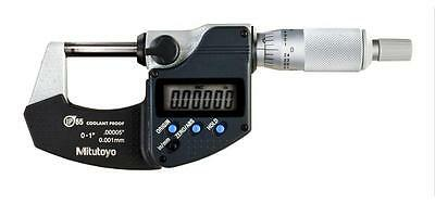 "Mitutoyo 293-340-30 Digimatic Outside Micrometer, 0-1""/0-25mm Range, .00005"""