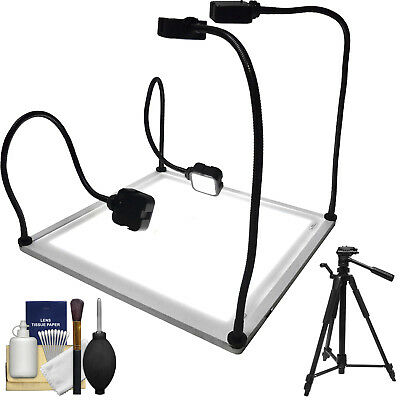 "Savage Product Pro 22"" Inch x 22 Inch LED Light Table with Tripod & Cleaning Kit"