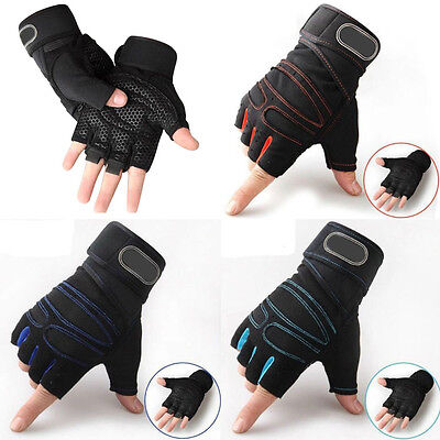 Weight lifting Gym Gloves Training Fitness Wrist Wrap Workout Exercise Sports 9P