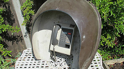 Retro payphone telephone and dome wall mounted-rare survivor