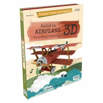 NEW SASSI Travel, Learn, & Explore Airplane 3D Puzzle and Book