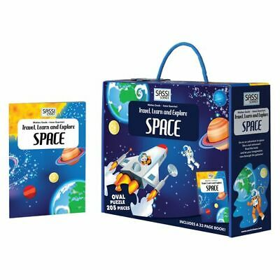 NEW SASSI Travel, Learn, & Explore Space Book and Puzzle