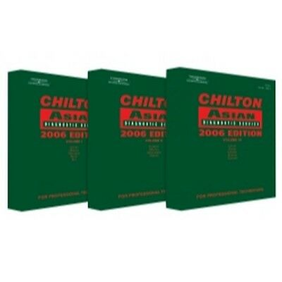 Chilton 130603 3 Piece Asian Service and Repair Manual Set for 2002-2006