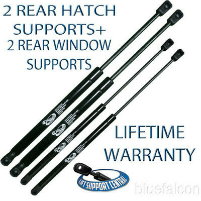 Two Rear Hatch + 2 Back Glass Window Lift Supports Liftgate Shock Strut Arm Rods