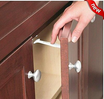 14 Pack Wide Grip Cabinet Locks & Drawer Latches Child Proof Baby Safety Lock
