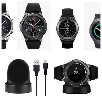 New QI Wireless Charging for Samsung Gear S2 S3 Frontier Classic Cradle Dock Kit