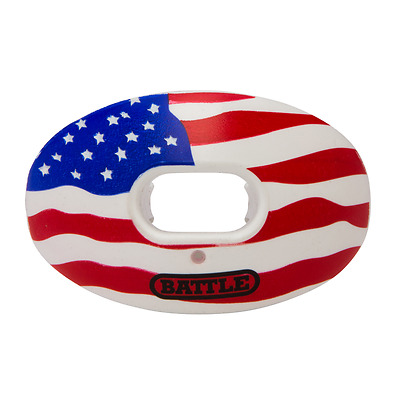 NEW Battle Oxygen American Flag Youth or Adult Mouthguard Football 8238