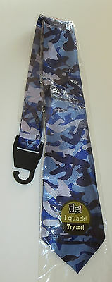 Blue Camo Neck Tie New Quacks Like a Duck Camouflage Hunting Mens
