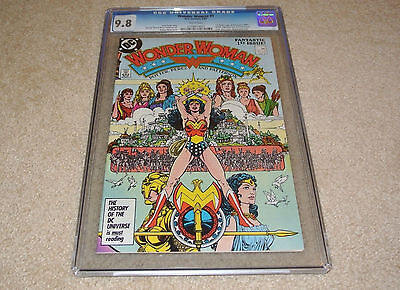Cgc 9.8 Wonder Woman #1 New Origin + 1St App. Of Themyscira *white Pages* 1987