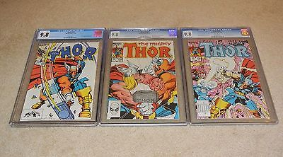 Cgc 9.8 Thor #337, #338 & #339 1St, 2Nd & 3Rd App Of Beta Ray Bill *white Pages*