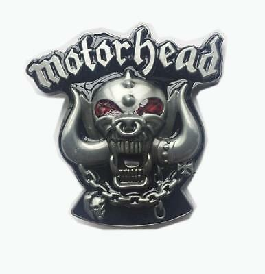 Cool Motor head Monster Skull Horns  Gothic Motorcycle Gear  Punk Belt Buckle