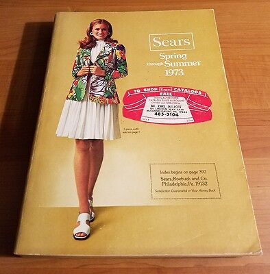 Vintage Sears Spring Summer Catalog 1971, Fashion,Craftsman Tools, retro,1093 pg