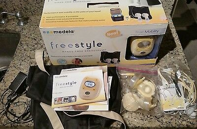 Medela Freestyle hands-free double electric breastpump with box - missing bottle