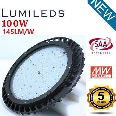 UFO 100W LUMILED LED High Bay Light Bright White Warehouse Factory Outdoor SAA