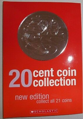 20 Cent Coin Collection Album Holds 21 Commemorative Coins 2017 (New Edition)
