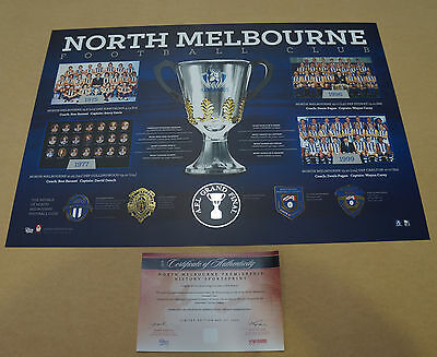 North Melbourne Kangaroos Premiers AFL Historical Series Official Print ONLY
