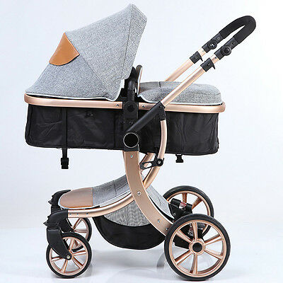 Luxury baby stroller 3in1 foldable Carriage Infant Travel Outdoor Pram pushchair