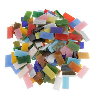 150x Colorful Rectangle Glass Pieces Mosaic Tiles Tessera for Craft 10x20mm