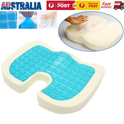 Coccyx Cooling Gel Memory Foam Cushion Posture Back Hip Support Car Seat Booster