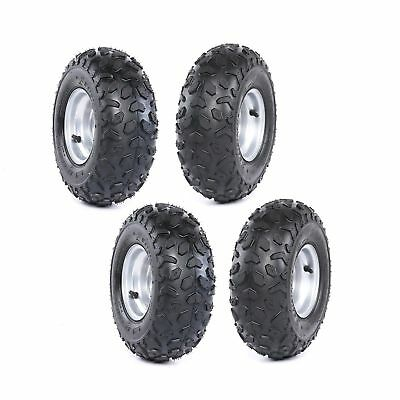 4 set 145/70-6 Tyre Tire and Rim Assembly for Go kart ATV Moped Quad Buggy XQ5