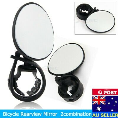 Universal Mount Round Bike Mirror Bicycle Bike Cycle Fork Frame Handlebar Fit