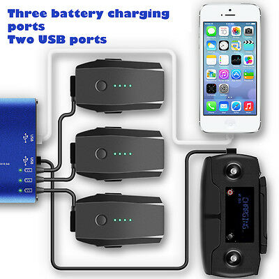 5 in 1 Rapid Battery Charger USB Charger Smart Charging Hub for DJI Mavic Pro