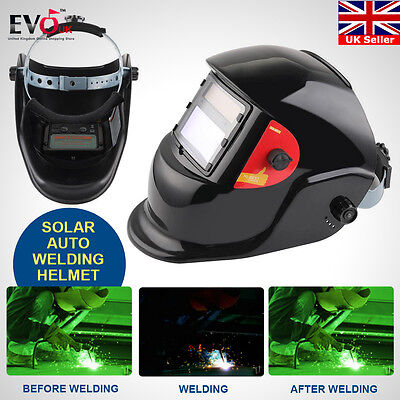 Solar Auto Darkening Welding Grinding Lens Filter Safety Helmet Tig Mig Arc Mask