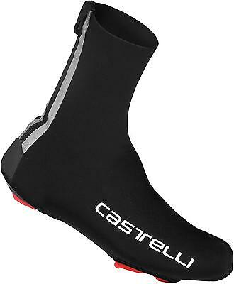 Castelli DILUVIO 16 Neoprene Cycling Overshoes - Black + Text (AW16)