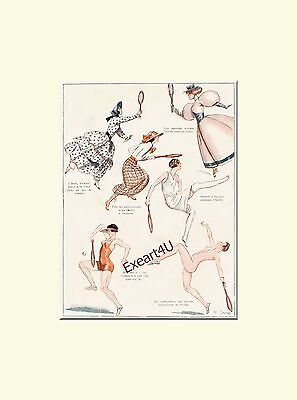 Tennis Sport Humor Humour  Mode Fashion Erotic Erotik Art Print Druck