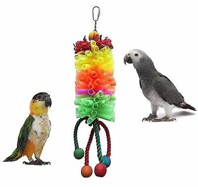 Sky Adventure Bound Parrot Parakeet Colourful Straws Hanging Cage Toy 5898