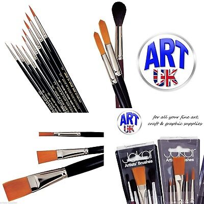 Flat Tynex Nylon Brushes Oil Acrylic Watercolour Pro Arte Series 30