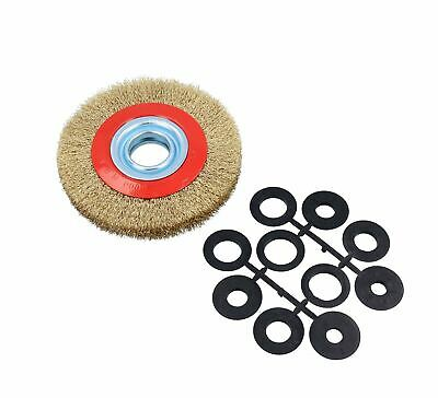 "150mm Electric Workshop Bench Grinder 150w Grinding Polishing And 6"" Wire Whee"