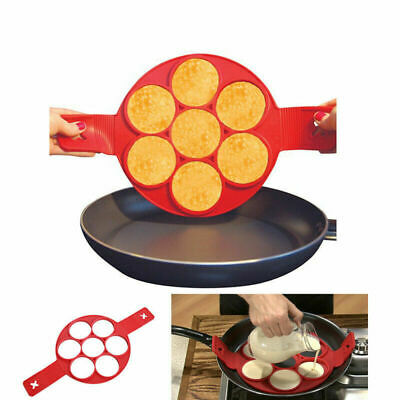 Stampo In Silicone Per Pancakes Cucina Fritelle Antiaderente Padella Omelette
